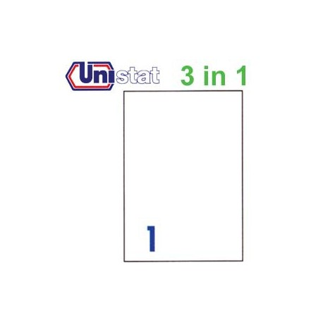 Unistat U4428 Multipurpose Labels A4 210mmx297mm 100's White