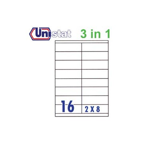 Unistat U4427 Multipurpose Labels A4 105mmx35mm 1600's White