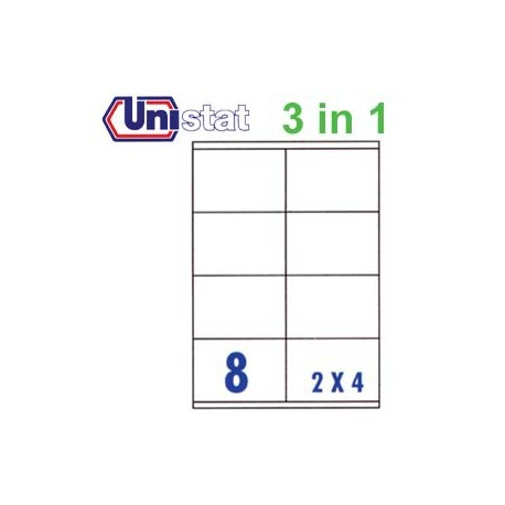 Unistat U4426 Multipurpose Labels A4 105mmx70mm 800's White