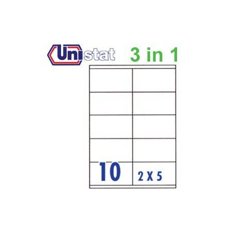 Unistat U4425 Multipurpose Labels A4 105mmx57mm 1000's White