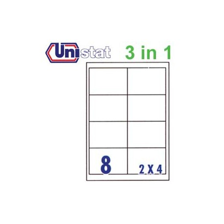 Unistat U4280 Multipurpose Labels A4 96.5mmx67.7mm 800's White