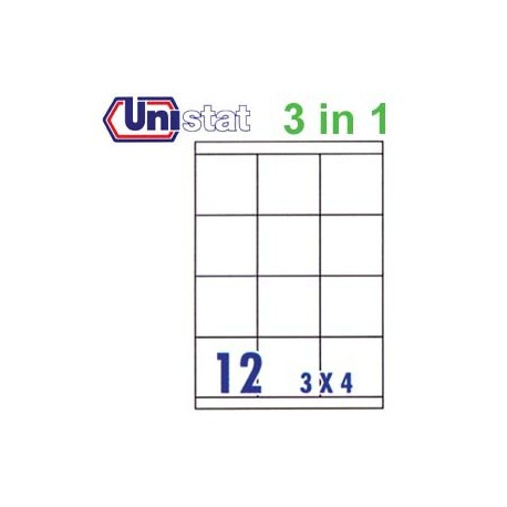 Unistat U4279 Multipurpose Labels A4 70mmx67.7mm 1200's White