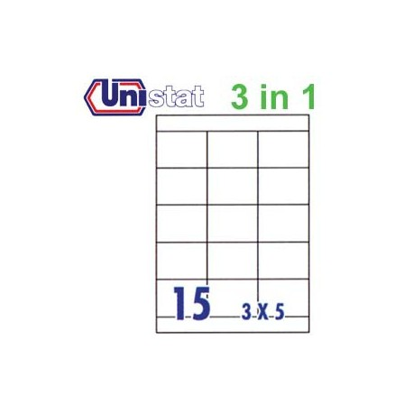 Unistat U4278 Multipurpose Labels A4 70mmx50.8mm 1500's White