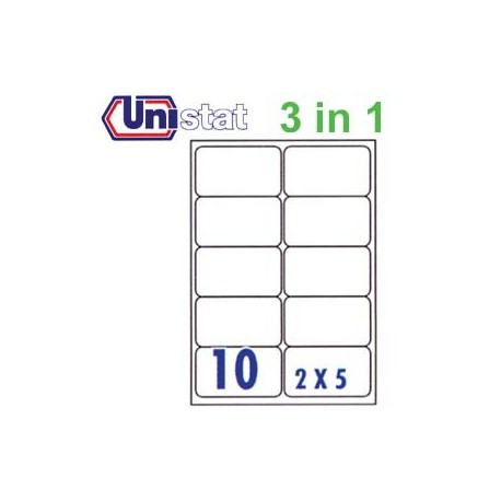 Unistat U4268 Multipurpose Labels A4 99.1mmx57mm 1000's White