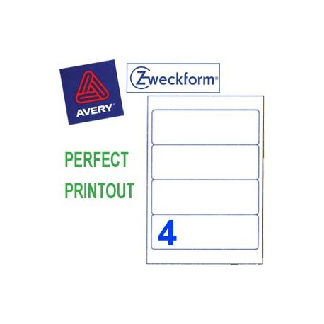 Zweckform 3688 Multipurpose Labels A4 192mmx61mm 400's White