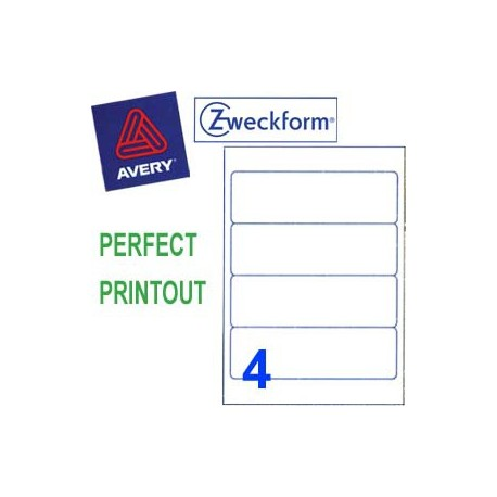Zweckform 3663 Multipurpose Labels A4 192mmx59mm 400's White