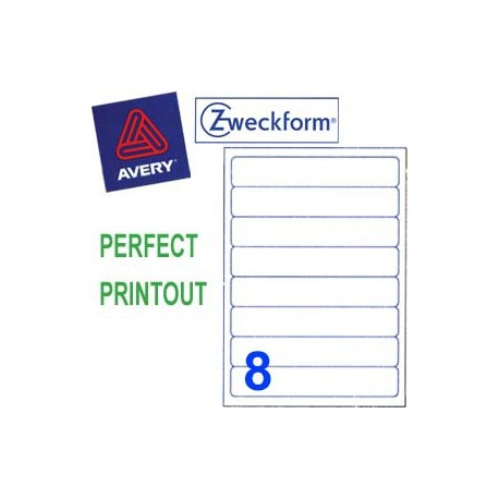 Zweckform 3662 Multipurpose Labels A4 192mmx34mm 800's White