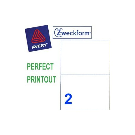 Zweckform 3655 Multipurpose Labels A4 210mmx148mm 200's White