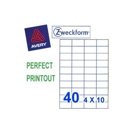 Zweckform 3651 Multipurpose Labels A4 52.5mmx29.7mm 4000's White