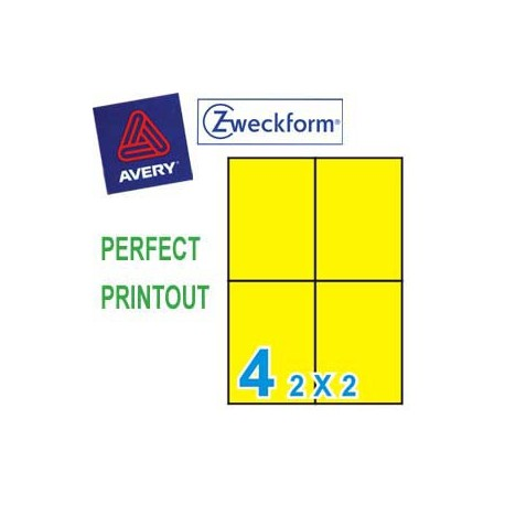 Zweckform 3459 Multipurpose Labels A4 105mmx148mm 400's Yellow