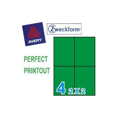 Zweckform 3458 Multipurpose Labels A4 105mmx148mm 400's Green