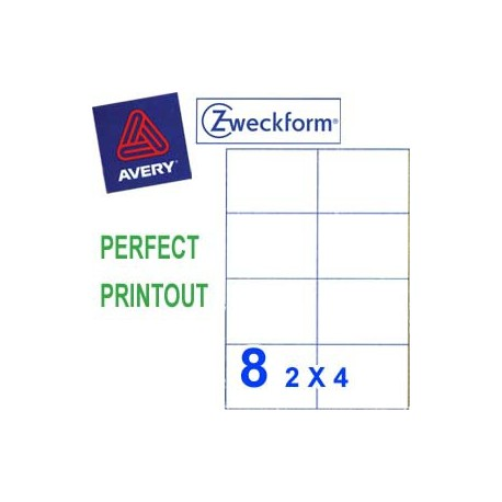 Zweckform 3427 Multipurpose Labels A4 105mmx74mm 800's White