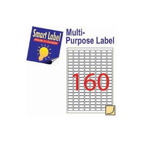 Smart Label 2604 Multipurpose Labels A4 22mmx12mm 16000's White