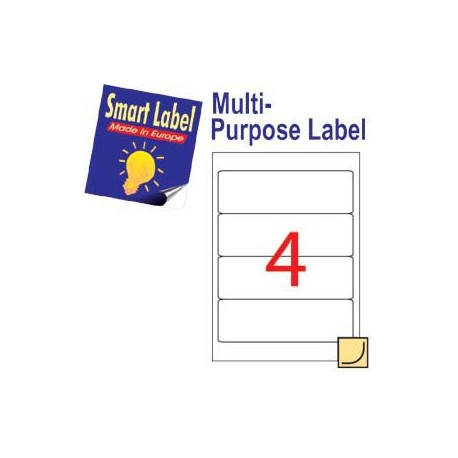 Smart Label 2580 Multipurpose Labels A4 192mmx61mm 400's White