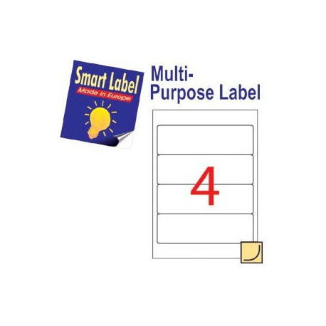 Smart Label 2579 Multipurpose Labels A4 192mmx59mm 400's White