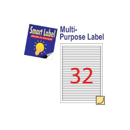 Smart Label 2575 Multipurpose Labels A4 192mmx8.5mm 3200's White