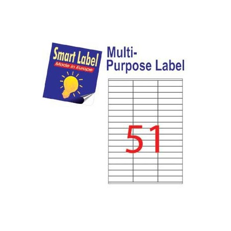 Smart Label 2523 多用途標籤 A4 70毫米x16.9毫米 5100個 白色