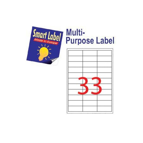 Smart Label 2520 Multipurpose Labels A4 66mmx25.4mm 3300's White