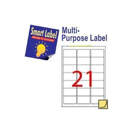 Smart Label 2514 多用途標籤 A4 63.5毫米x38.1毫米 2100個 白色
