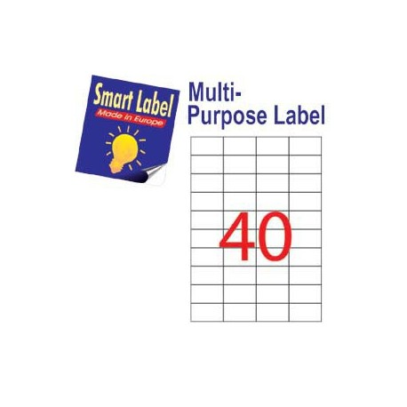 Smart Label 2511 Multipurpose Labels A4 52.5mmx29.7mm 4000's White
