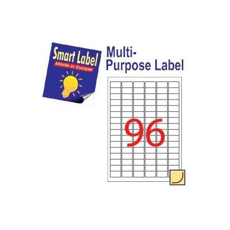 Smart Label 2503 多用途標籤 A4 30.5毫米x16.9毫米 9600個 白色