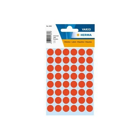 Herma 1862 Round Labels 12mm 240's Red