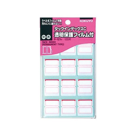 Kokuyo TA121R Tack Index Label Red
