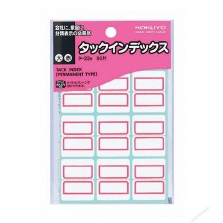 Kokuyo TA22R Tack Index Label Red