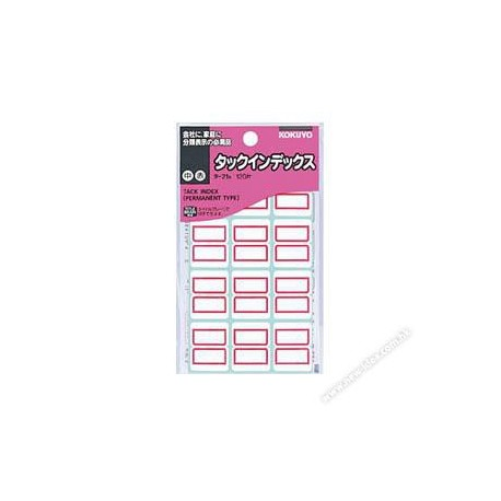 Kokuyo TA21R Tack Index Label Red