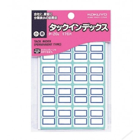 Kokuyo TA20B Tack Index Label Blue