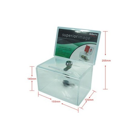 Deflect-O D-DF596901 Collection Box w/Lock