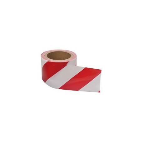"""Warning PP Tape 3"""" Red&White"""