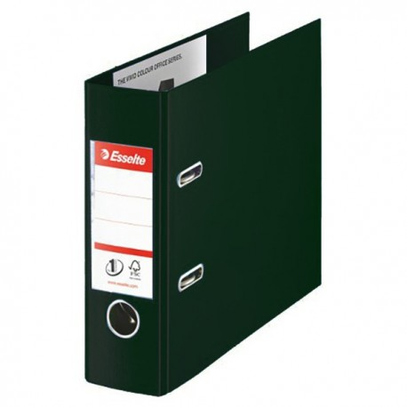 "Esselte 51537 Kabineet PVC Lever Arch File 9""x11""x3"" Black Horizontal"