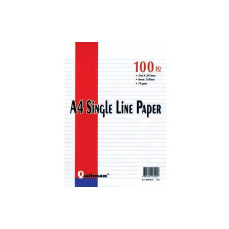 Quitman Loose Leaf Paper 1-Line A4 100Sheets