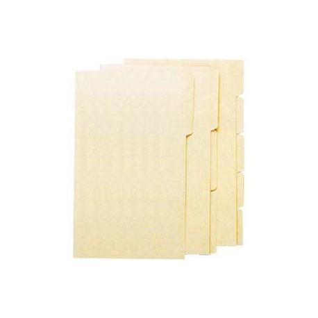 Manila Paper Folder F4 3-Step Beige