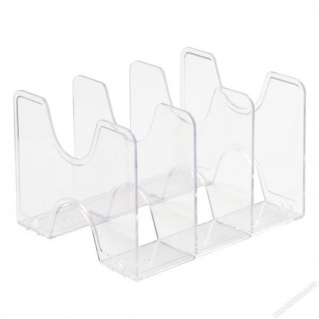 Nakabayashi Capaty E9 Book Rack 3-Drawer Clear