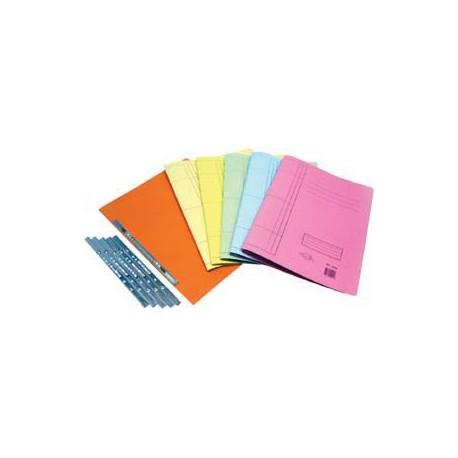74/D 紙質文件套連快勞鐵 F4 藍色