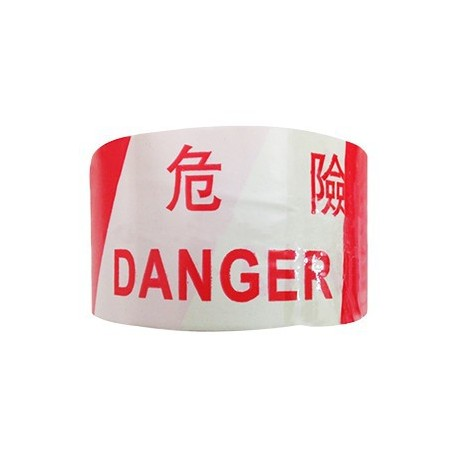 "Warning PP Tape Danger 3""x300yds Red&White"