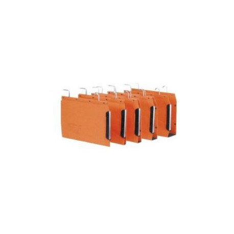 Oblique TUB-V215 Rails Hanging File 15mm Orange 25's