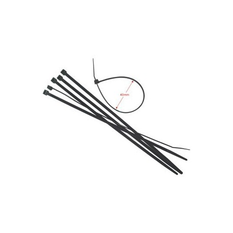 "Cable Tie 6""x3mm 100's Black"