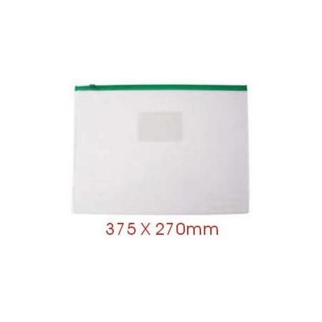 Zipper Clear Bag 375mmx270mm F4