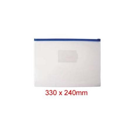 Zipper Clear Bag 330mmx240mm A4