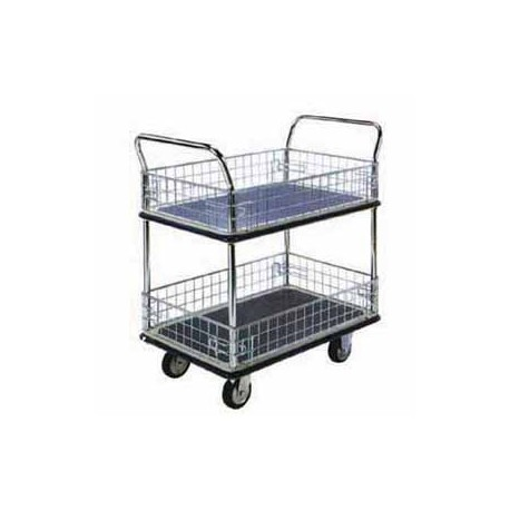 "NF-327 Japan Double Deck Side Net Trolley 36.25""x24""x41"""