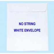 """Envelope w/Glue 9""""x12"""" White"""