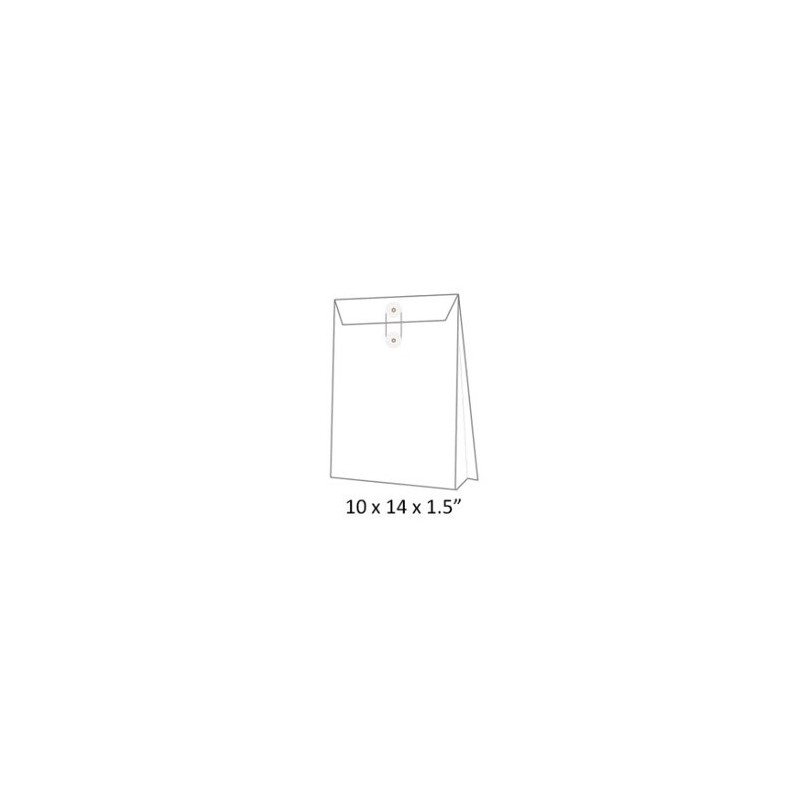 "Expandable Envelope w/String 10""x14""x1.5"" White"
