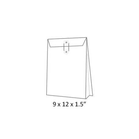 "Expandable Envelope w/String 9""x12""x1.5"" White"