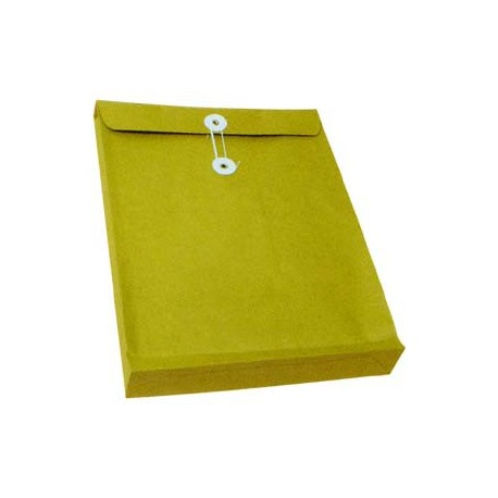 "Expandable Envelope w/String 11""x15""x2"" Brown"