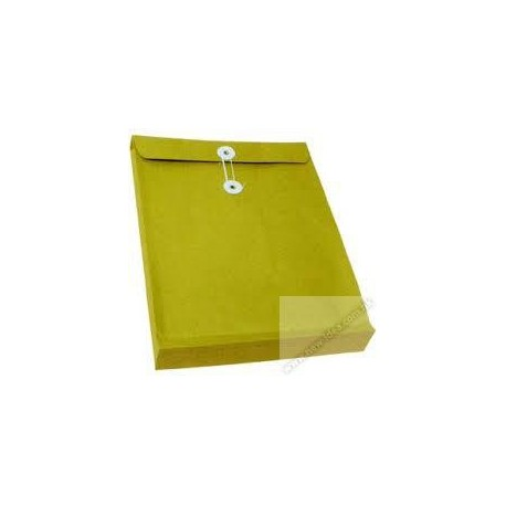 "Expandable Envelope w/String 9""x13""x1.5"" Brown"