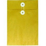 "Envelope w/String 7""x10"" Brown"