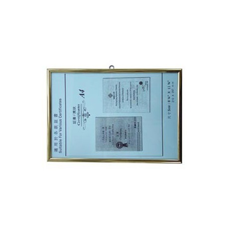 No.104 HK License Insurance Frame A4 Aluminum Frame Golden Horizontal
